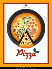 pizza advertising background colorful cut pie sketch