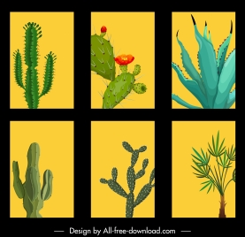 plants background templates needle leaves trees classic design