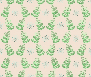 plants pattern sketch green decoration repeating style