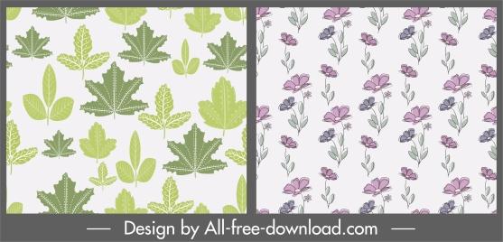 plants pattern templates leaf floras decor classica design