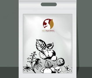 plastic package template nuts icon decoration shiny grey