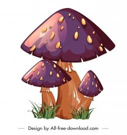 poisonous mushroom icon shiny colored classical design