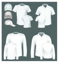 polo shirt and t-shirt design template