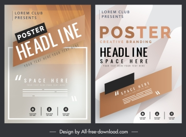 poster template colored modern decor