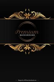 premium background elegant symmetric black golden decor