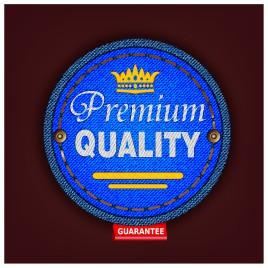 Premium quality fabric badge