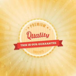 premium quality vintage badge design