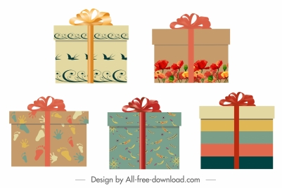 present box icon multicolored classic decor