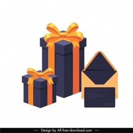 present design elements giftbox envelope sketch