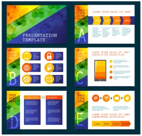 presentation template vector illustration with colorful modern background
