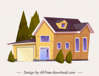 private house template elegant contemporary decor