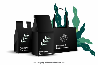 product advertising banner leaves packing setch modern 3d
