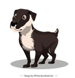 puppy icon black white furry sketch