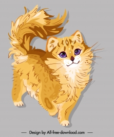 pussy painting cute design colored handdrawn sketch