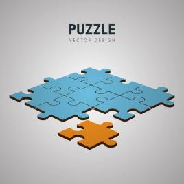 puzzle joints background colored 3d design
