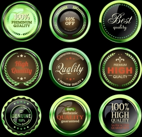 quality buttons collection shiny modern round decor
