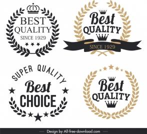 quality label templates vintage elegant wreath decor