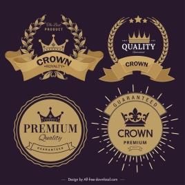 quality logo templates classical elegant dark golden design