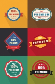 quality tags templates colored retro geometric design