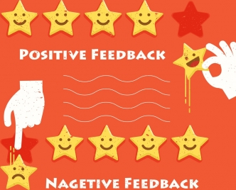 quality voting background stars facial emotion hands icons