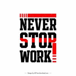 quotation banner template work motivation theme flat design