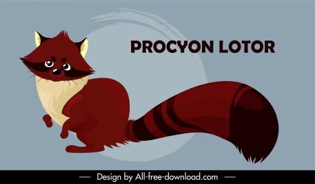 raccoon animal icon cute cartoon character sketch