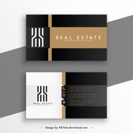 real estate business card template elegant contrast decor