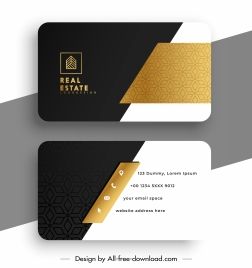 real estate business card template modern elegant contrast