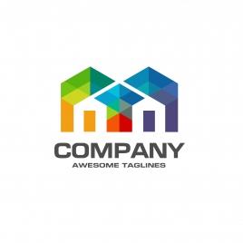 real estate logo colorful concept
