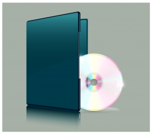 realistic vector illustration of compact disc