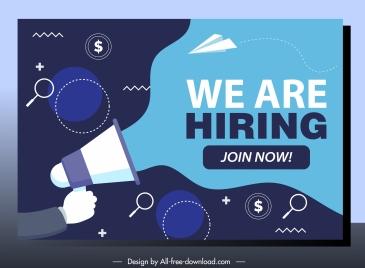 recruitment poster modern flat speaker business elements sketch