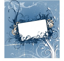 Rectangle card suround by flora
