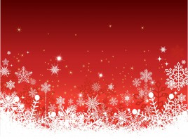 Red christmas horizontal background