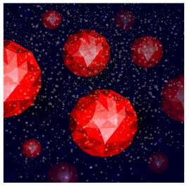 red geometric globe background