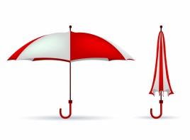red-white colored umbrella