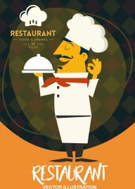 restaurant background serving cook icon classical decor