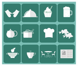 restaurant icon sets vector illustration with flat design