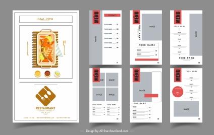 restaurant menu templates elegant flat decor