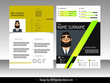 resume template colorful modern elegant decor