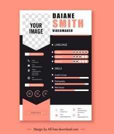 resume template elegant contrast decor