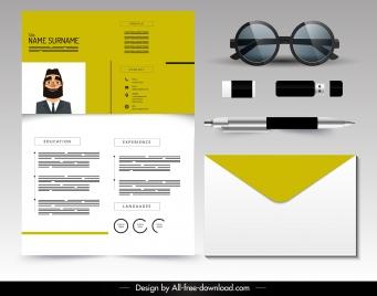 resume template modern simple plain design