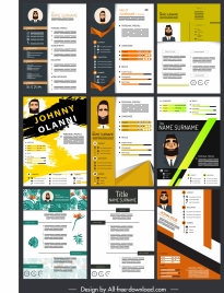 resume templates colorful modern design