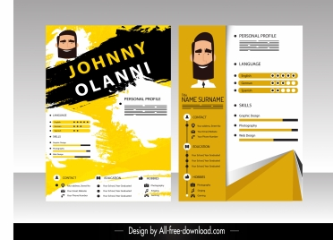 resume templates modern grunge technology decor