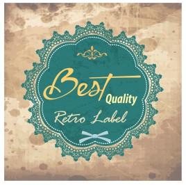 retro badge label