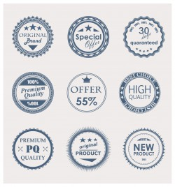 retro sale label and badge collections