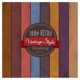 retro vintage style badge template