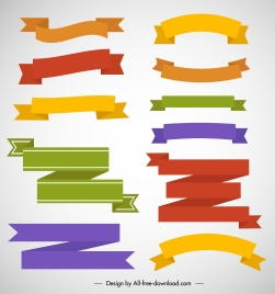 ribbon templates colorful classical shapes design