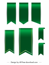ribbon templates shiny green modern design