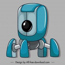 robot icon shiny modern design multi legs shape
