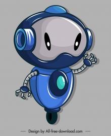 robot icon wheel leg humanoid design
